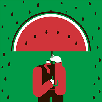Magoz illustration - Watermelon Man - Featured