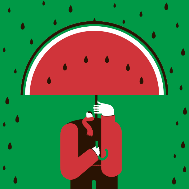 Magoz illustration - Watermelon Man