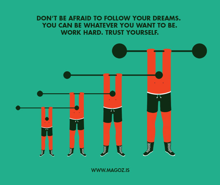 Magoz illustration - follow your dreams