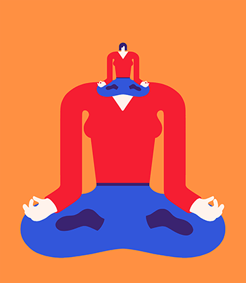 Magoz Illustration - Mindfulness through meditation - Featured