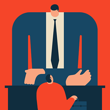 Magoz illustration - Stress and pressure in job interviews - Featured