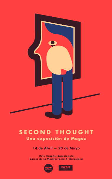 Magoz Illustration Poster for Second Thought. Magoz First Exhibition in Barcelona